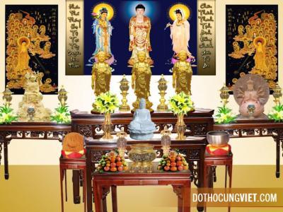Bố trí bàn thờ Phật và gia tiên ngày lễ Tết