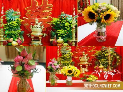 Cách trang trí bàn thờ gia tiên ngày cưới trọng đại