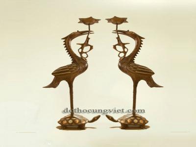 Ý nghĩa của đôi hạc thờ trên bàn thờ gia tiên