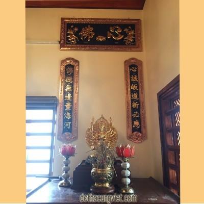 Hoành phi câu đối ban thờ Phật