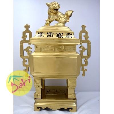 Lư hương 60 vuông đúc vàng