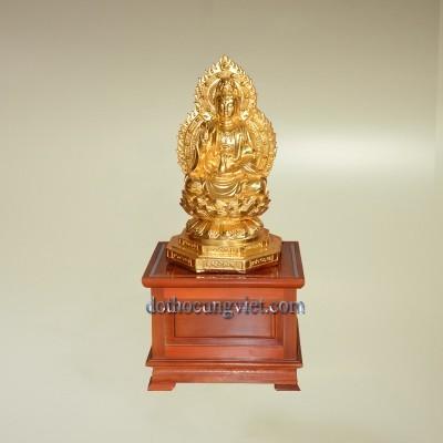 Tượng Phật Quan Âm mạ vàng